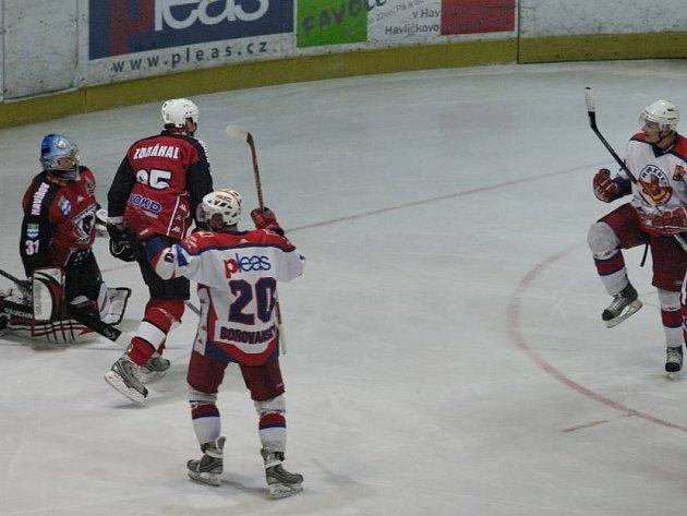 Hokejové utkání Havlíčkův Brod - Havířov.