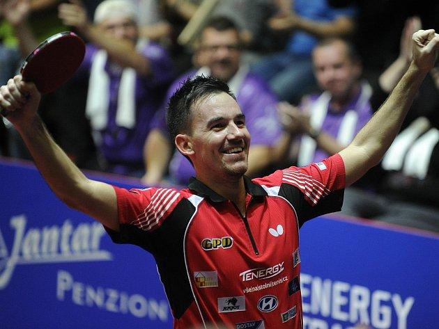 V závěrečných bojích o třetí český titul budou stolní tenisté Havlíčkova Brodu spoléhat hlavně na Tomáše Treglera.