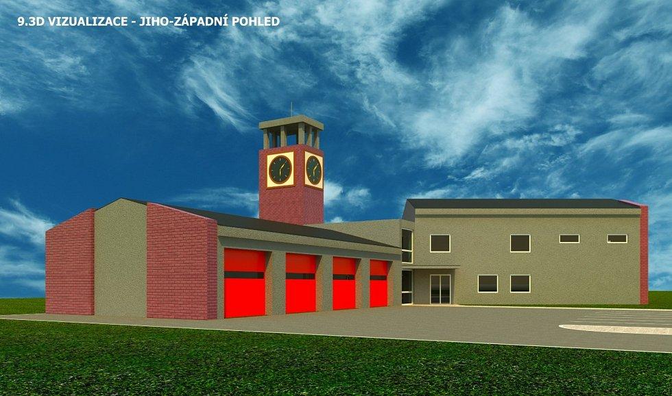 Tak bude vypadat nová zbrojnice pro hasiče ve Ždírci.