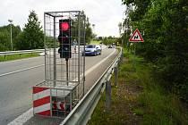 Omezení dopravy na silnici I/38 u Štoků.