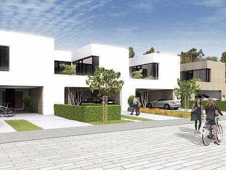 Takto by mohly vypadat řadové domy a terasové domy v nové havlíčkobrodské bytové čtvrti.