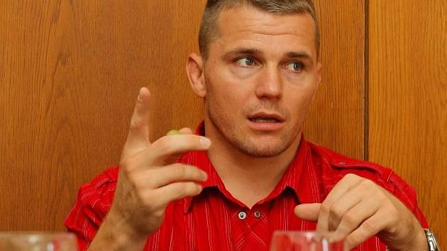 Zápasník Marek Švec se ve čtvrtek ukázal na havlíčkobrodské radnici.