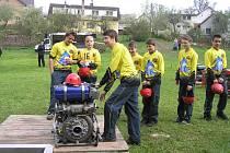 Mladí hasiči z Dobré.