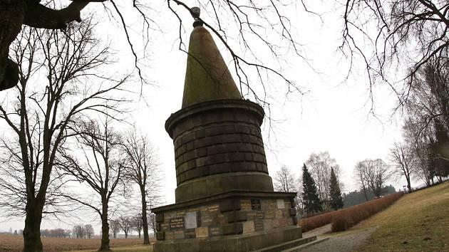 Konec zimy u památníku.
