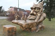 Socha čerta od Michala Olšiaka.