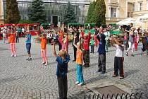 Děti se na nádvoří zámku ve Světlé nad Sázavou rozhodně nenudily.