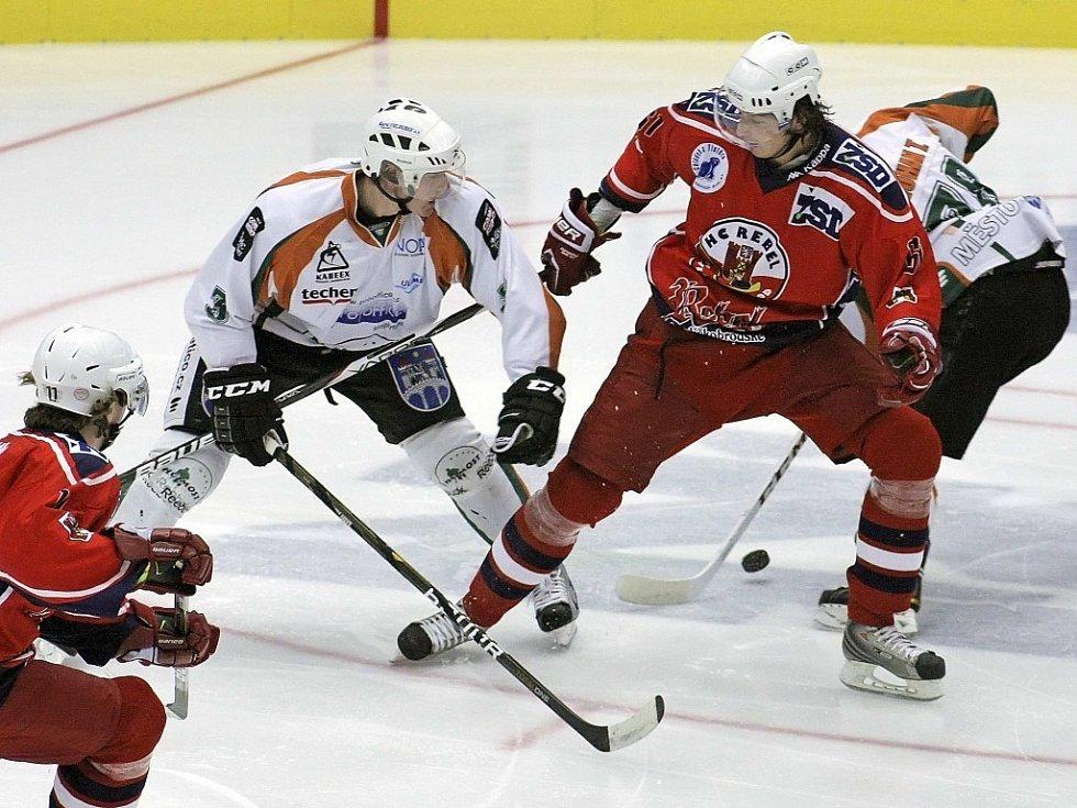 Z hokejového utkání Havl. Brod - Most.
