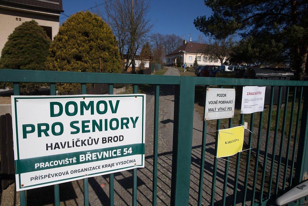 Domov pro seniory v Břevnici u Havlíčkova Brodu byl od 30. března 2020 v karanténě kvůli rozšíření onemocnění COVID-19.