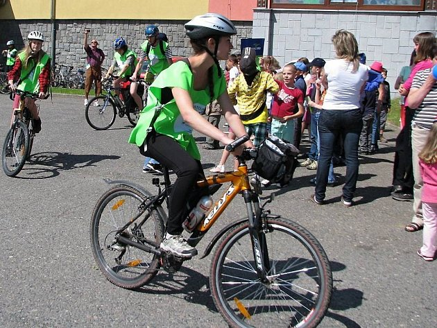 Cykloštafeta Klimatour na Havlíčkobrodsku. Ilustrační foto.