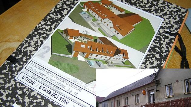 Plány na rekonstrukci jsou velké, jak ukazuje menší snímek, budova to potřebuje.
