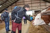 Haberští školáci navštívili místní zemědělské družstvo.