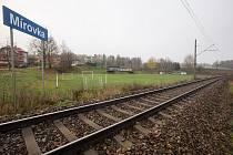 Fotbalové hřiště v Mírovce na Havlíčkobrodsku.