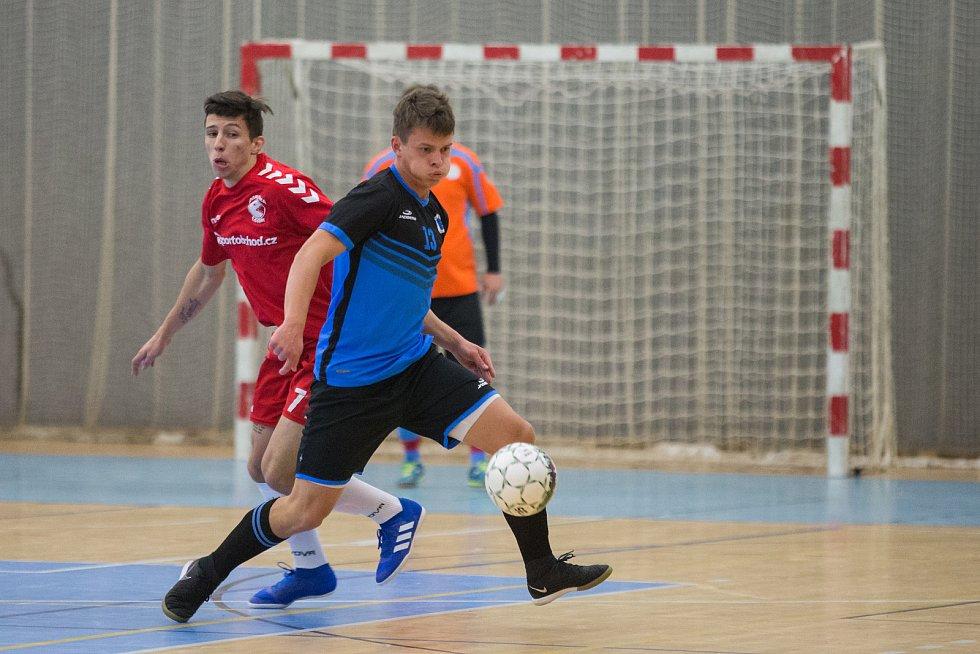 Futsalové utkání mezi Chotěboří a Libercem.