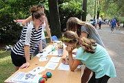 Na pondělní akci Volný čas není nuda, která se konala v havlíčkobrodském parku Budoucnost, se prezentovalo i několik tamních kroužků.
