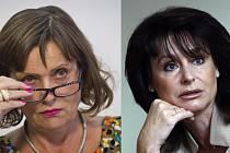 Předsedkyně Energetického regulačního úřadu Alena Vitásková (vlevo) je viněna, že někdejší šéfku státních zástupců Renatu Veseckou jmenovala svou zástupkyní vzdor tomu, že by Vesecká měla stanovenou praxi v energetice.