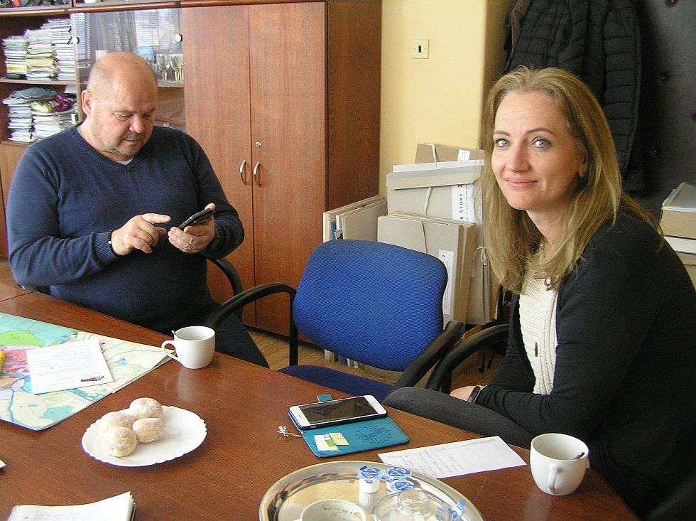 Starosta Pavel Královec a místostarostka Lenka Vodičková.