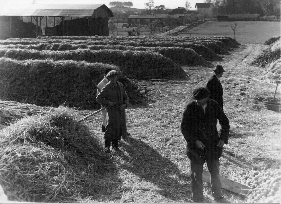 Tak vypadal tábor v Lípě. Fotografie je z Muzea Vysočiny Havlíčkův Brod