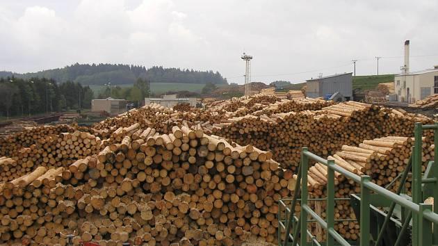 Pily jsou kvůli kůrovci doslova zahlcené dřevem.