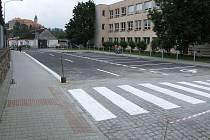 Rekonstruovaná Nádražní ulice v Ledči nad Sázavou.