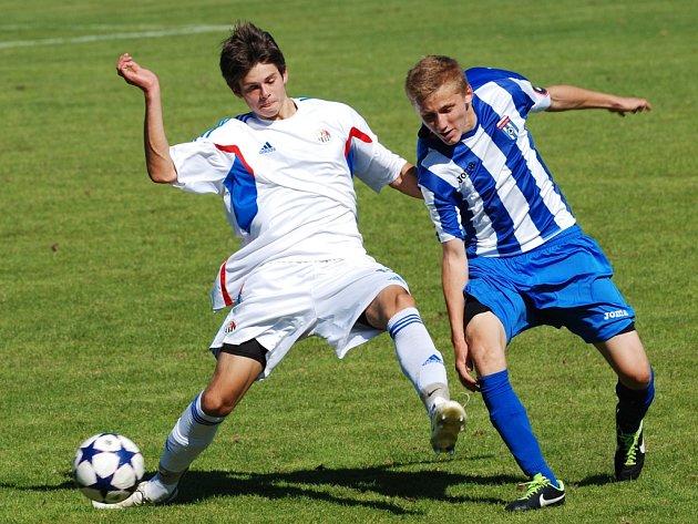 Spravedlivou remízu uhráli ligoví dorostenci Slovanu proti favorizované Kroměříži, když se o vyrovnávací branku postaral Prchal.