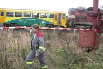 Srážka vlaků u Ždírce nad Doubravou.