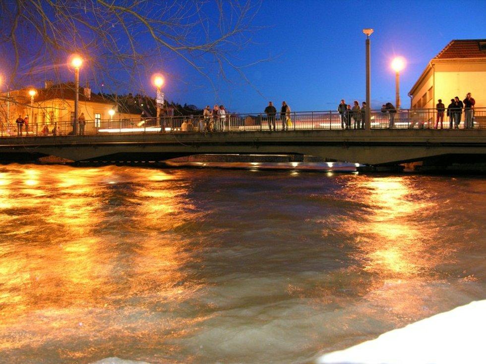 Záplavy na jaře 2006 na Vysočině.