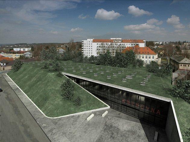 Takto by mohla krajská knihovna v Havlíčkově Brodě vypadat. Rozpočtové náklady jsou spočítány na 300 milionů korun. V současné době se ale hovoří o částce o 40 milionů korun nižší.