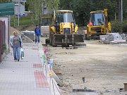 Opravy ulice Prokopa Holého.