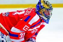 Dvakrát vedli třebíčští hokejisté na ledě Kladna, poctivou defenzivní hrou podpořenou výborným výkonem brankáře Luboše Horčičky (na snímku) mohli dlouho pomýšlet na bodový zisk, ve třetím dějství ale nadějně rozehraný duel ztratili.