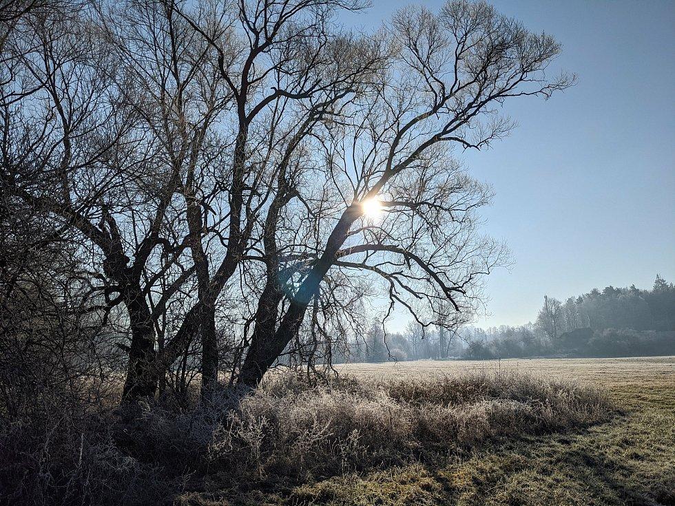 Zima na Havlíčkobrodsku. Foto: Lumír Mach