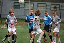 Ofenzivním fotbalem se prezentovali starší žáci U14 brodského Slovanu v první lize, kde nastříleli jednašedesát gólů.