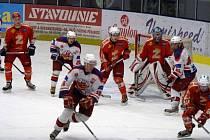 Jasný zápas odehráli junioři HC Rebel proti Mělníku.