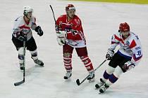 Z hokejového utkání HC Chotěboř - HC Pelhřimov.