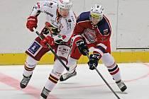 Havlíčkobrodští hokejisté proti Jestřábům byli u kotoučů o krok později, z čehož plynula častá hra v oslabení.
