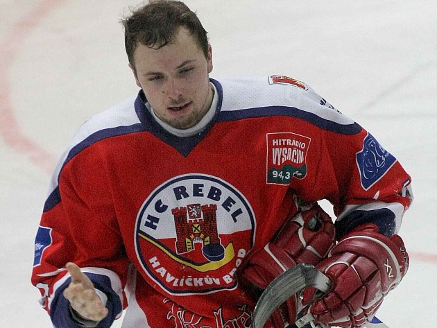 Útočník prvoligových hokejistů Havlíčkova Brodu Miroslav Třetina (na snímku) se v zápase s Třebíčí posunul na post centra první útočné formace.