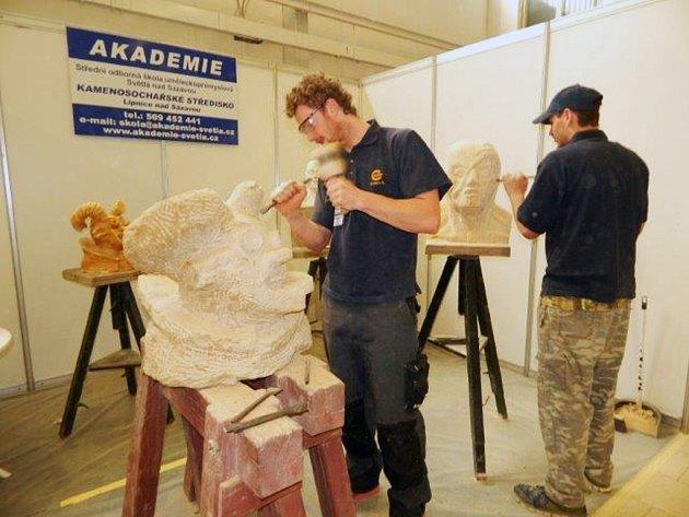Studenti odloučeného pracoviště světelské školy se zúčastnili 14. výstavy kamenoprůmyslu a geologie Kamenář v Trenčíně.
