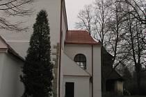 Kostel sv. Jana Křtitele v Krásné Hoře.