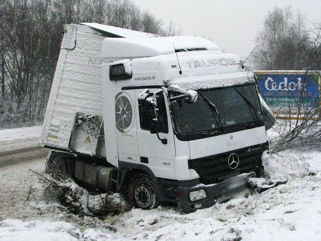 Nehoda kamionu u Habrů.
