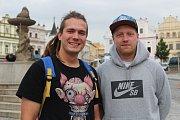 Skateová komunita v Brodě žije. Vojta Suchý (vlevo) a Ondra Balada ji zkouší dál oživit.