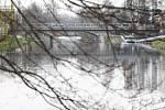 Most přes řeku Sázavu v Havlíčkově Brodě.