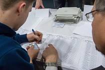 První kolo prezidentské volby v Havlíčkově Brodě.