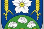 ZNAK OBCE.Bramborový květ odkazuje na zemědělský charakter regionu. Černé mlýnské kolo je pak připomínkou zdejšího starobylého Ostrovského mlýna.Foto:Obec Ostrov