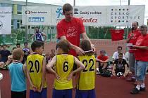 Předávání cen se chopil basketbalový reprezentant Jakub Jokl, který tuto parádní akci podpořil.