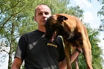 Stanislav Havlíček ví, že každého psa musí s ohledem na jeho povahu cvičit trochu jinak. Platí to i o psech Nerovi (na snímku) a Jorickovi, kterým se věnuje nyní.