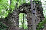 Zřícenina hradu v Ronově nad Sázavou