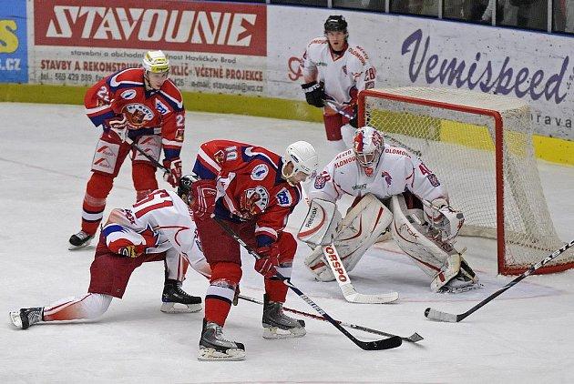 Z hokejového utkání HC Rebel Havl. Brod - HC Olomouc.