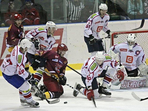 Výhra hostů. Hokejisté Dukly porazili Třebíč.