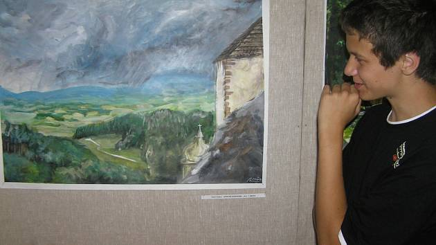 Vernisáž workshopu pro mladé výtvarníky Štáflova paleta.