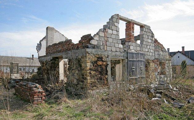 Ruina v Sobíňově.
