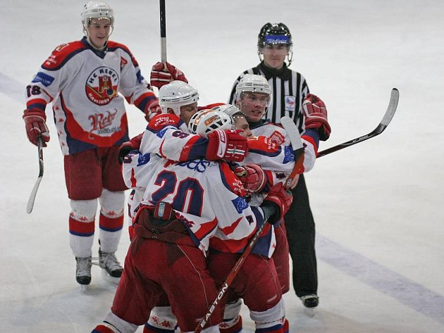 Hokejisté HC Rebel Havlíčkův Brod.